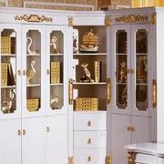 欧式奢华上世纪贵族气息整体书柜装饰