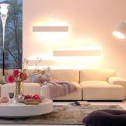 小户型简约风格客厅灯饰装饰
