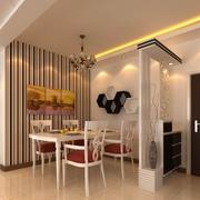 后现代风格餐厅背景墙装饰
