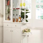简约风格复式楼玄关欧式整体酒柜装饰