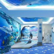 清新幼儿园背景墙设计