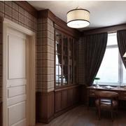 美式简约风格公寓飘窗装饰