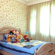 儿童房简约风格印花背景墙装饰