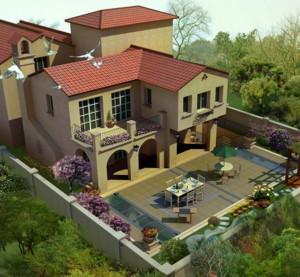 高档别墅庭院装修设计效果图