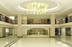 2015现代都市大厅吊灯装修效果图
