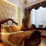 卧室简约风格卧室床头背景墙装饰