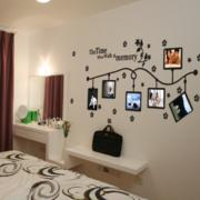 简约风格创意卧室墙贴设计