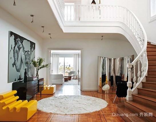 别墅型现代豪华复式楼梯装修效果图