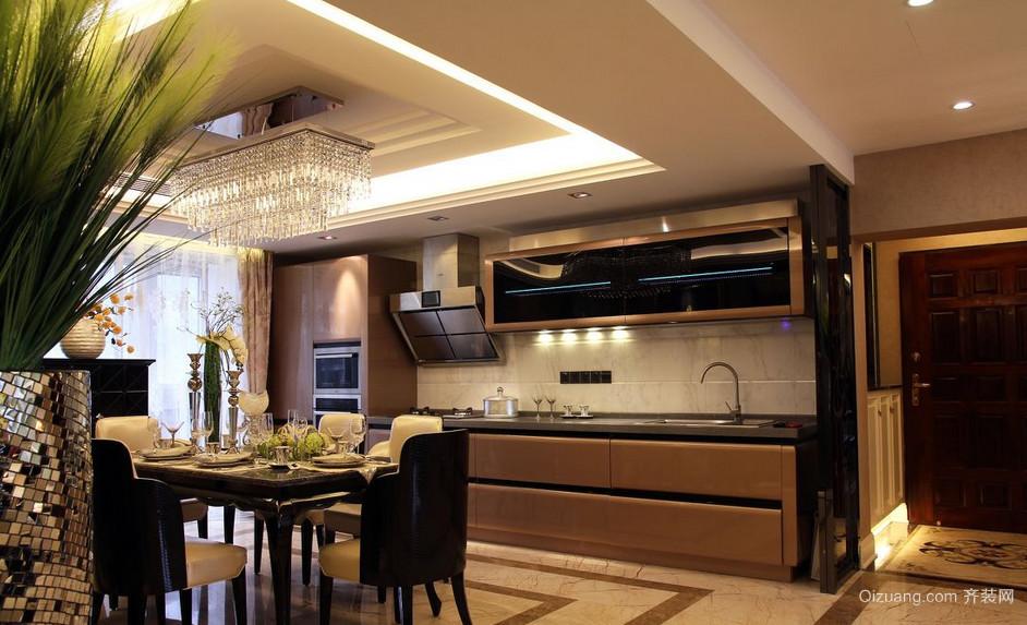 2015别墅型现代欧式开放式厨房装修效果图