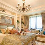 欧式奢华卧室石膏线装饰