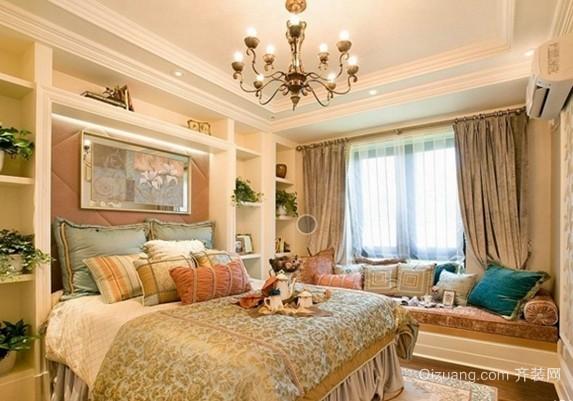 欧式大户型客厅做石膏线效果图