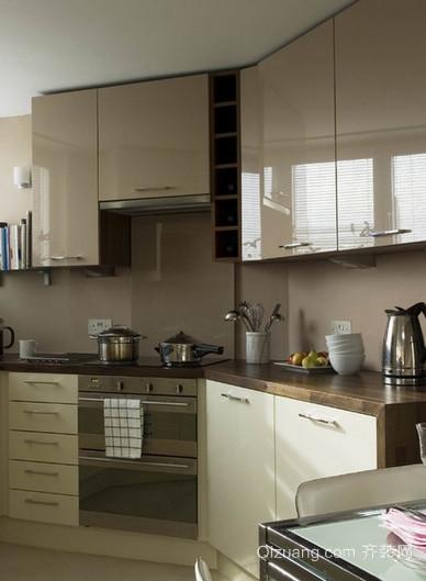 120平米大户型宜家美式整体橱柜厨房装修效果图