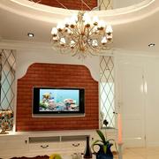 欧式仿石制电视背景墙装饰