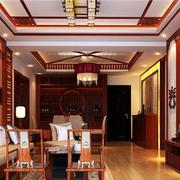 100平米房屋中式客厅吊顶装饰