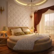 欧式简约风格卧室软包背景墙装饰