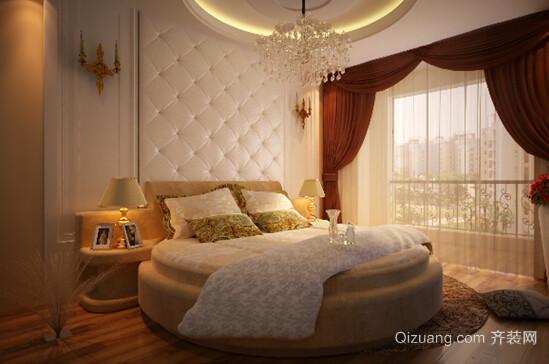 浪漫温馨的圆床卧室装修效果图