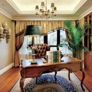 美式简约复古风格奢华飘窗装饰