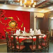 中式古韵餐厅背景墙装饰