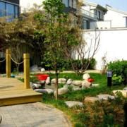 中式风格清新别墅庭院装饰