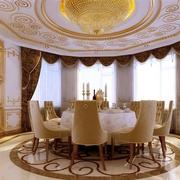 欧式餐厅奢华风格吊顶装饰