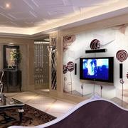 韩式客厅简约创意背景墙装饰
