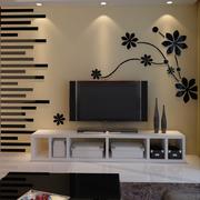 后现代风格客厅电视背景墙墙贴装饰