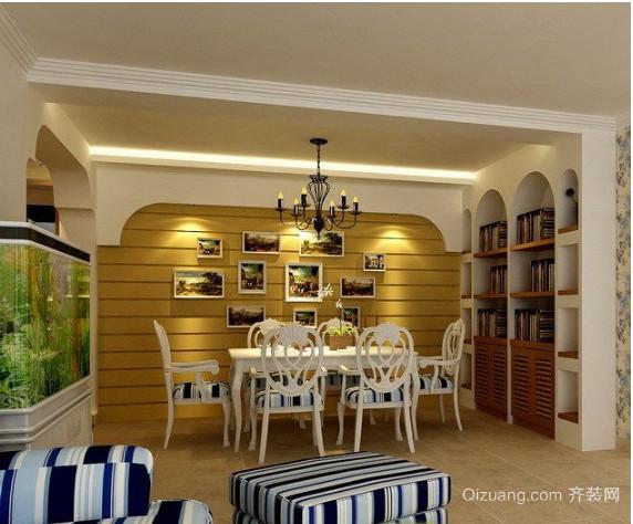地中海浪漫小型餐厅装修效果图