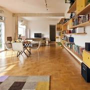 北欧风格公寓简约客厅置物架装饰
