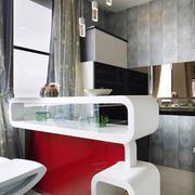 后现代风格时尚客厅吧台