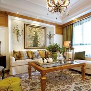 美式简约风格复古客厅飘窗装饰
