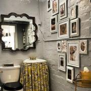 美式简约风格卫生间照片墙装饰