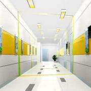 现代清新风格走廊文化墙