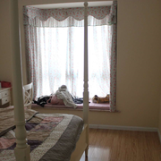 韩式简约风格卧室印花飘窗装饰