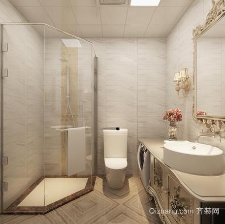 简约卫生间灯饰照明装修设计效果图