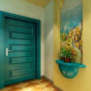地中海风格玄关背景墙装饰