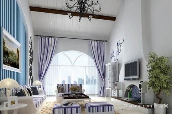 清新简约地中海风格窗帘装修效果图
