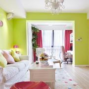 韩式清新风格客厅吊顶装饰