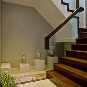 大型中式别墅楼梯装饰