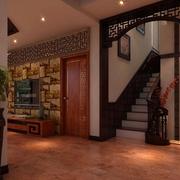 别墅中式简约风格楼梯装饰