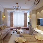 欧式简约风格客厅石膏线装饰