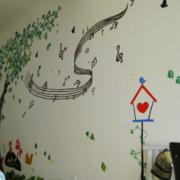 清新幼儿园背景墙装修