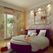 欧式小碎花卧室壁纸装饰