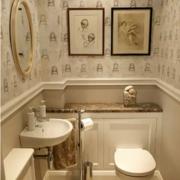 简欧风格厕所背景墙装饰