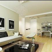 100平米房屋后现代风格沙发背景墙装饰