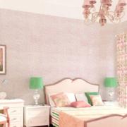 三室一厅粉色系卧室墙饰装饰