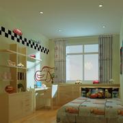 儿童房简约原木置物柜装饰