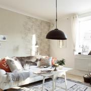 混搭风格卧室客厅沙发装饰