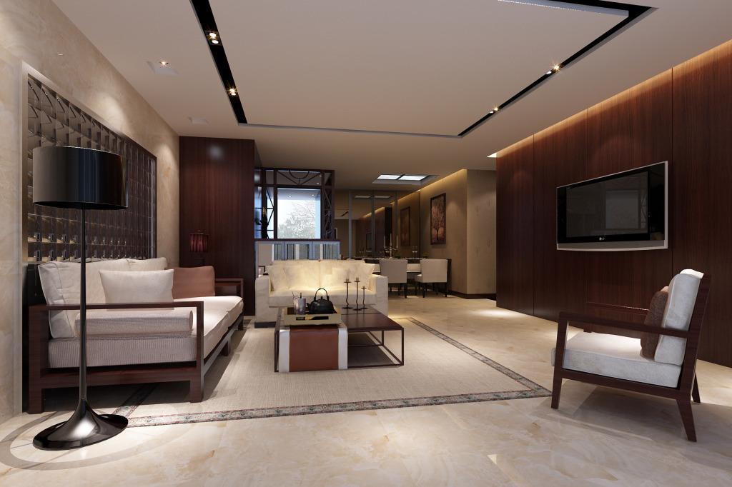 2015沉稳华丽型50平大客厅装修效果图
