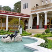 洋房简约风格庭院喷泉装饰