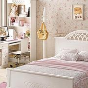 卧室田园墙纸装饰